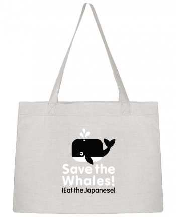 Shopping tote bag Stanley Stella SAVE THE WHALES EAT THE JAPANESE by LaundryFactory