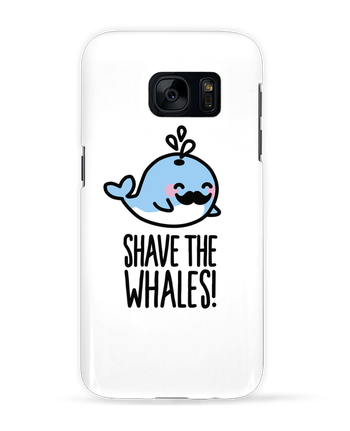 Case 3D Samsung Galaxy S7 SHAVE THE WHALES by LaundryFactory