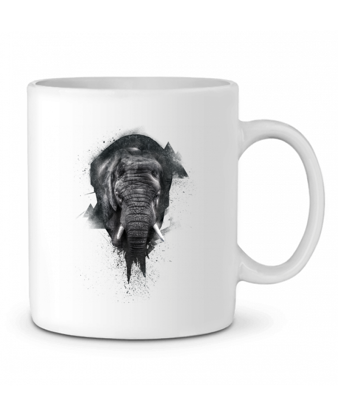 Ceramic Mug elephant footprint by WZKdesign