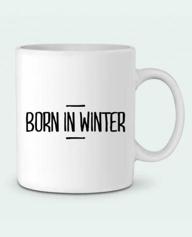 Ceramic Mug Born in winter by tunetoo