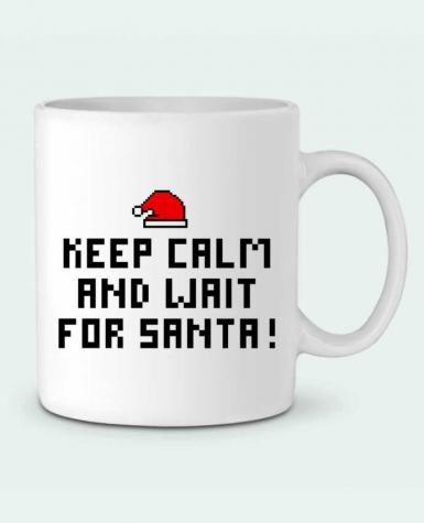 Ceramic Mug Keep calm and wait for Santa ! by tunetoo