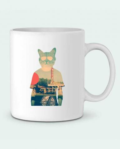 Ceramic Mug Cool cat by ali_gulec