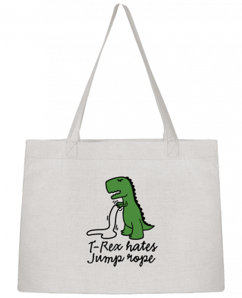 Shopping tote bag Stanley Stella TREX HATES JUMP ROPE by LaundryFactory