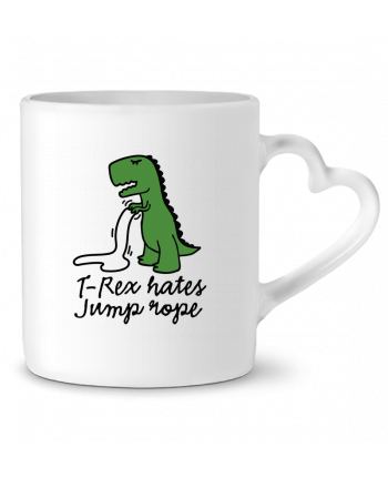 Mug Heart TREX HATES JUMP ROPE by LaundryFactory