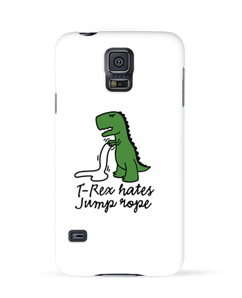 Case 3D Samsung Galaxy S5 TREX HATES JUMP ROPE by LaundryFactory