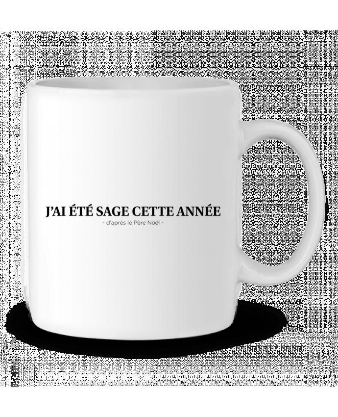 Ceramic Mug J'ai été sage cette année - d'après le Père Noël - by tunetoo