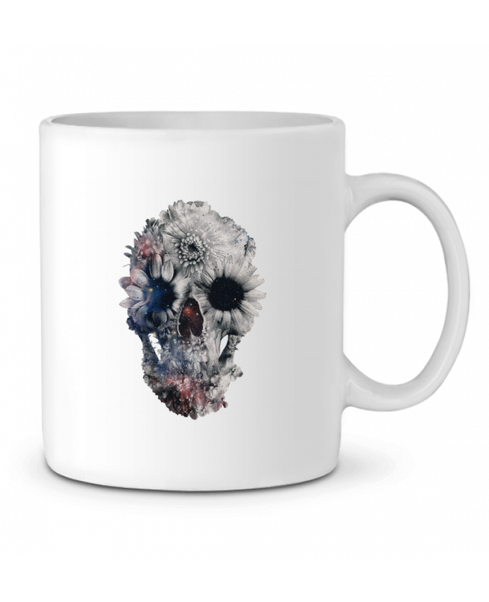 Ceramic Mug Floral skull 2 by ali_gulec