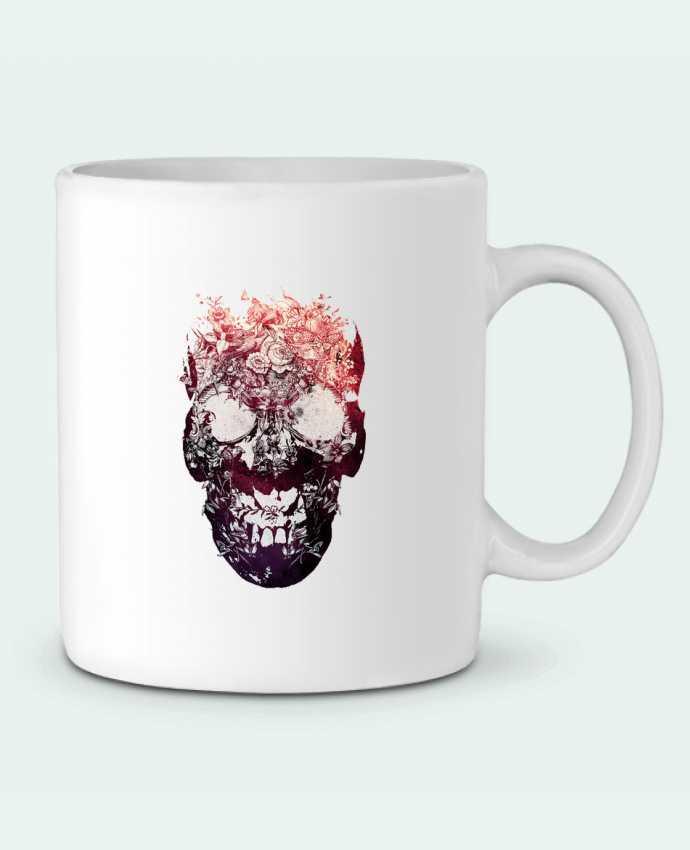 Ceramic Mug Floral skull by ali_gulec