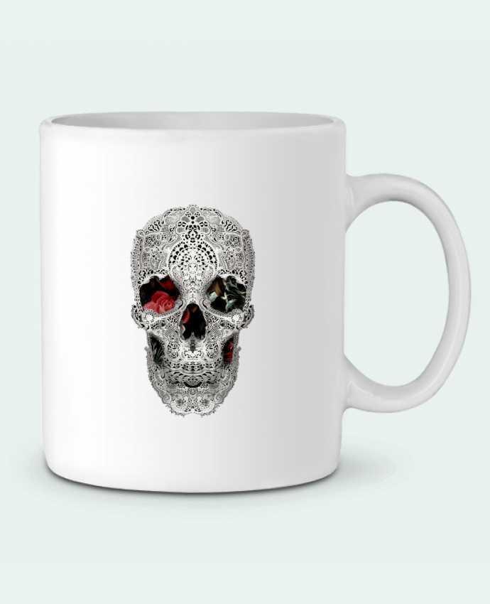 Ceramic Mug Lace skull 2 light by ali_gulec