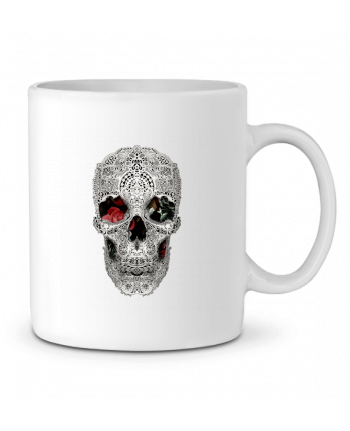 Ceramic Mug Lace skull 2 light by ali_gulec