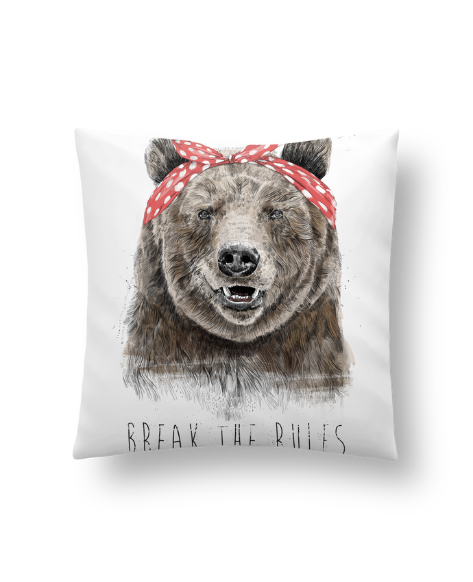 Cushion synthetic soft 45 x 45 cm Break the rules II by Balàzs Solti