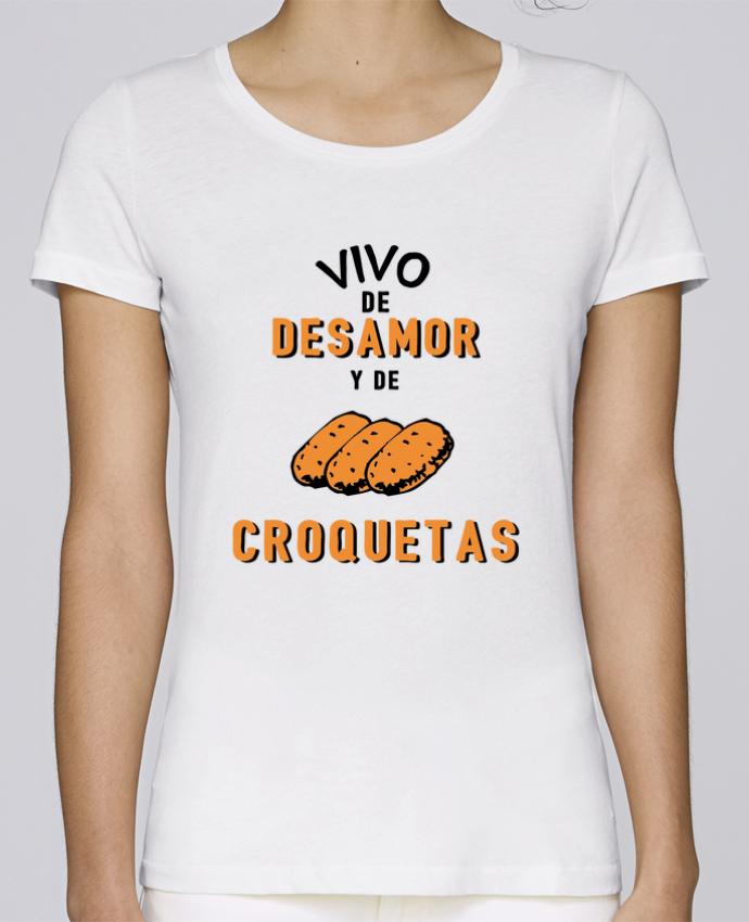 T-shirt Women Stella Loves Vivo de desamor y de croquetas by tunetoo