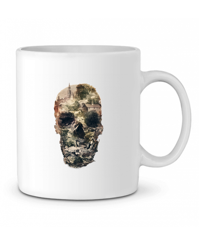 Ceramic Mug Skull town by ali_gulec