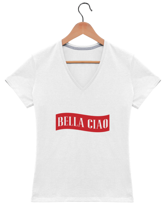 T-Shirt V-Neck Women BELLA CIAO by tunetoo