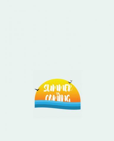 Tote Bag cotton Summer is coming by tunetoo