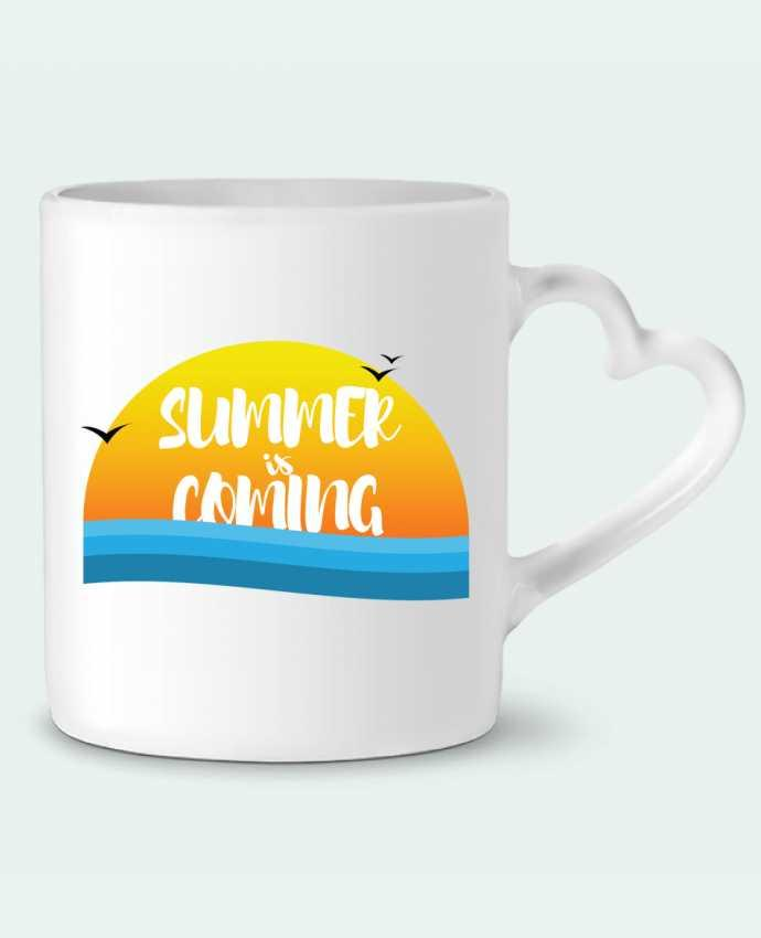 Mug Heart Summer is coming by tunetoo