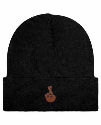 Reversible Beanie Doigts croisés black by tunetoo