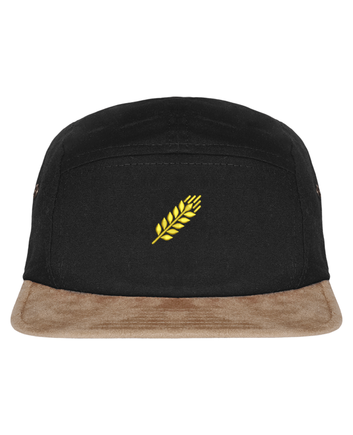 5 Panel Cap suede effect visor Blé by tunetoo