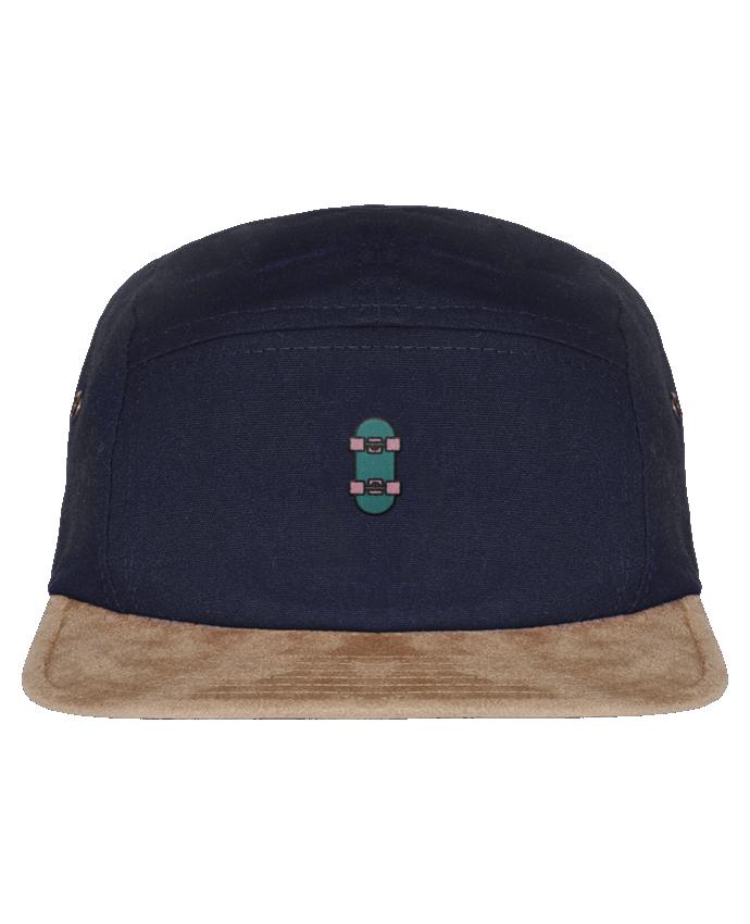 5 Panel Cap suede effect visor Skate bleu by tunetoo
