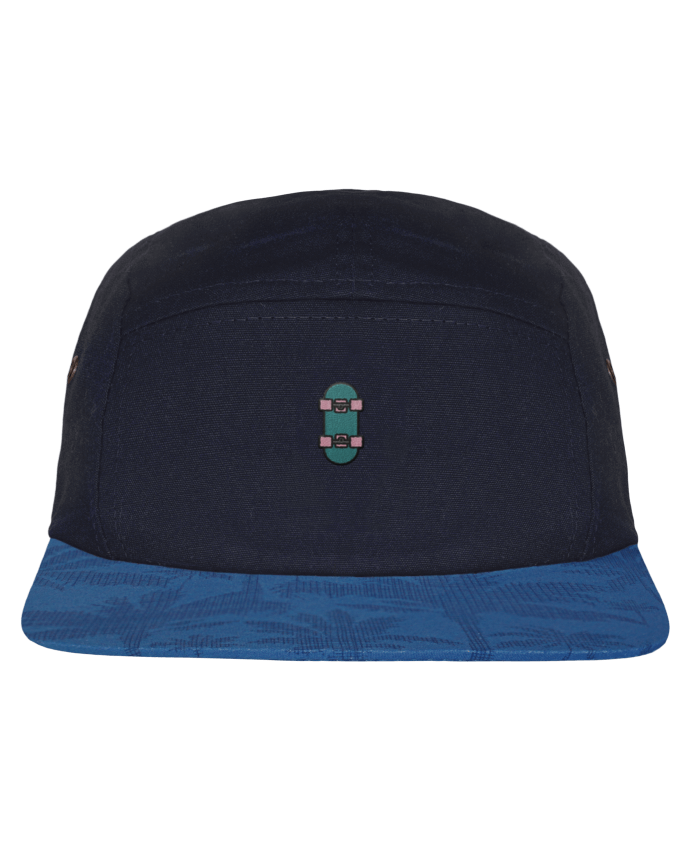 5 Panel Cap dot pattern visor Skate bleu by tunetoo