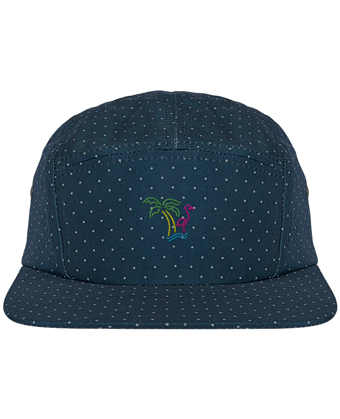 5 Panel Cap dot pattern Island Flamingo by tunetoo
