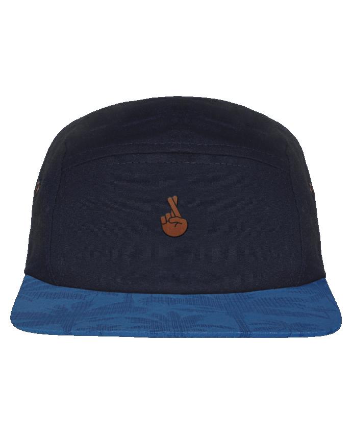5 Panel Cap dot pattern visor Doigts croisés black by tunetoo