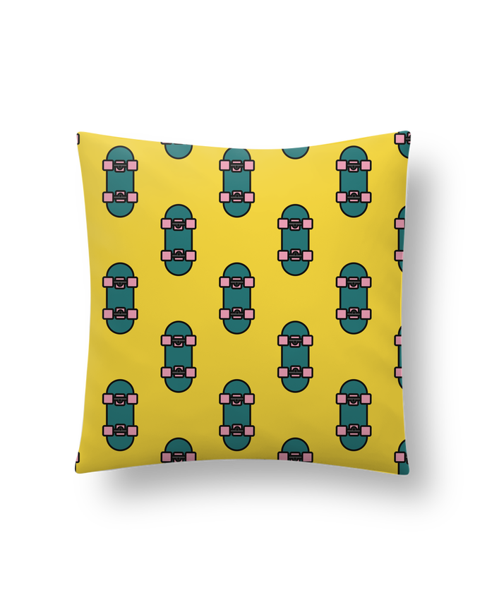 Cushion synthetic soft 45 x 45 cm Skate bleu by tunetoo