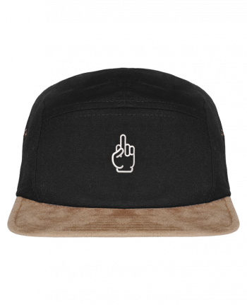 5 Panel Cap suede effect visor Fuck by tunetoo