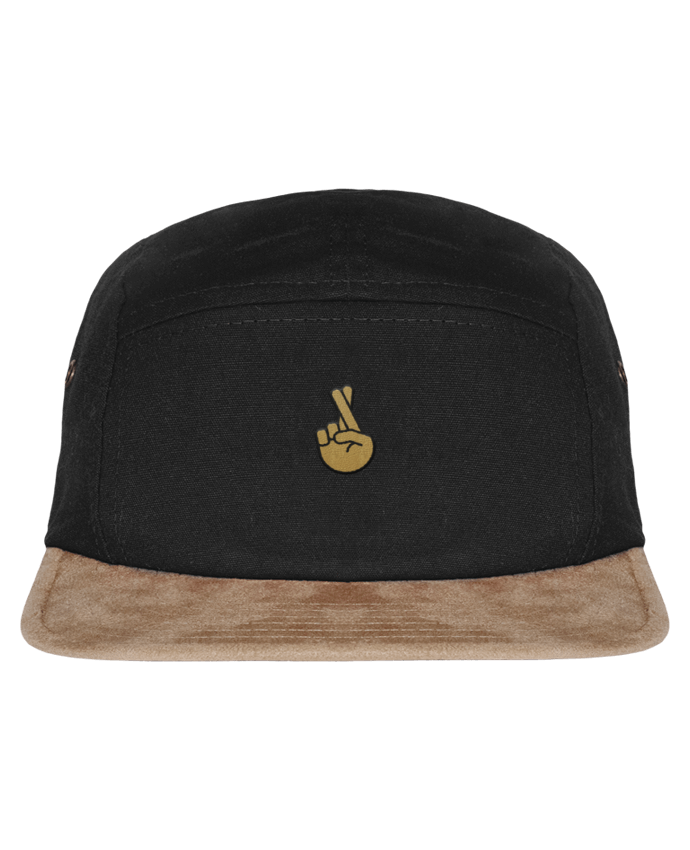 5 Panel Cap suede effect visor Doigts croisés yellow by tunetoo