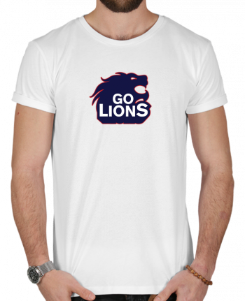 T-Shirt Men 180g Go Lions by tunetoo