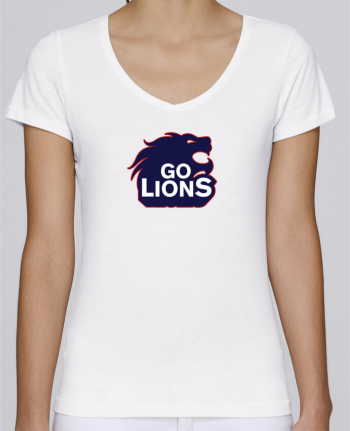 T-Shirt V-Neck Women Stella Chooses Go Lions by tunetoo