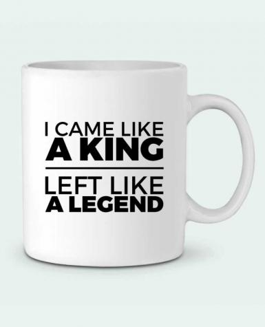 Ceramic Mug I came like a king II by tunetoo