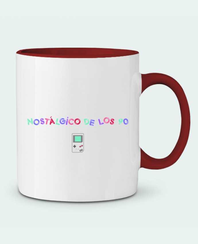Two-tone Ceramic Mug Nostálgico de los 90s Gameboy tunetoo