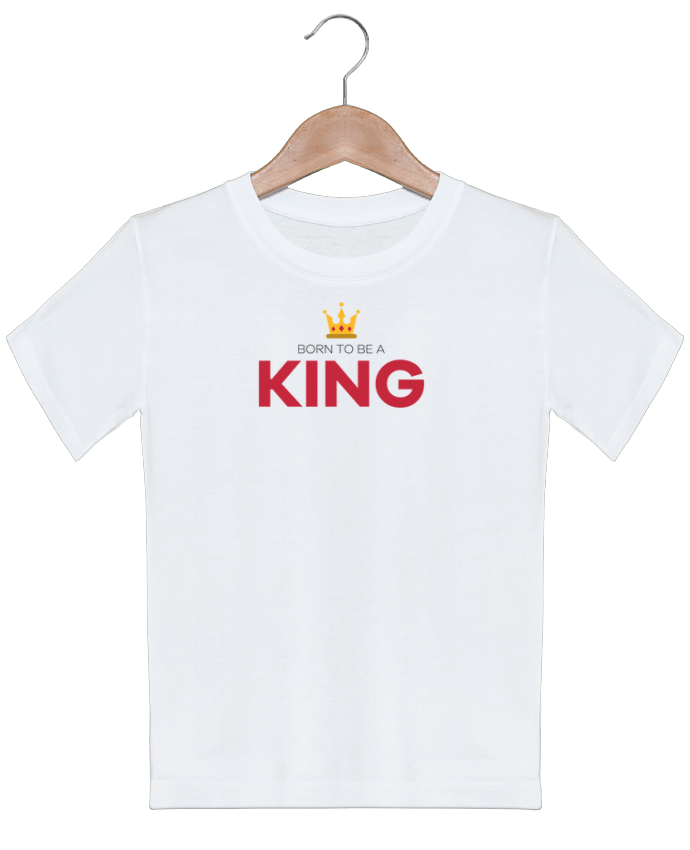 T-shirt garçon motif Born to be a king tunetoo