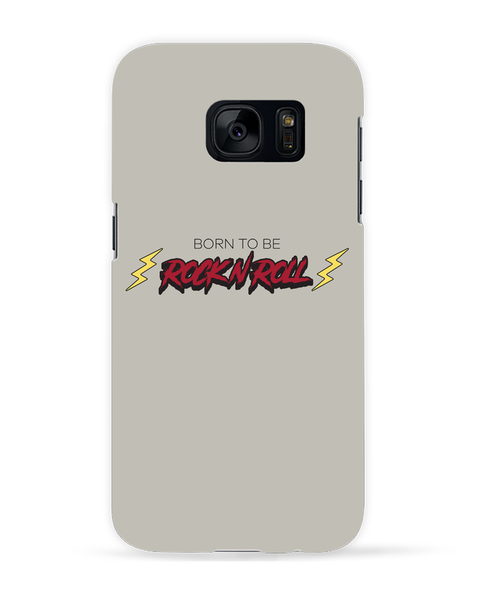 Case 3D Samsung Galaxy S7 Born to be rock n roll by tunetoo