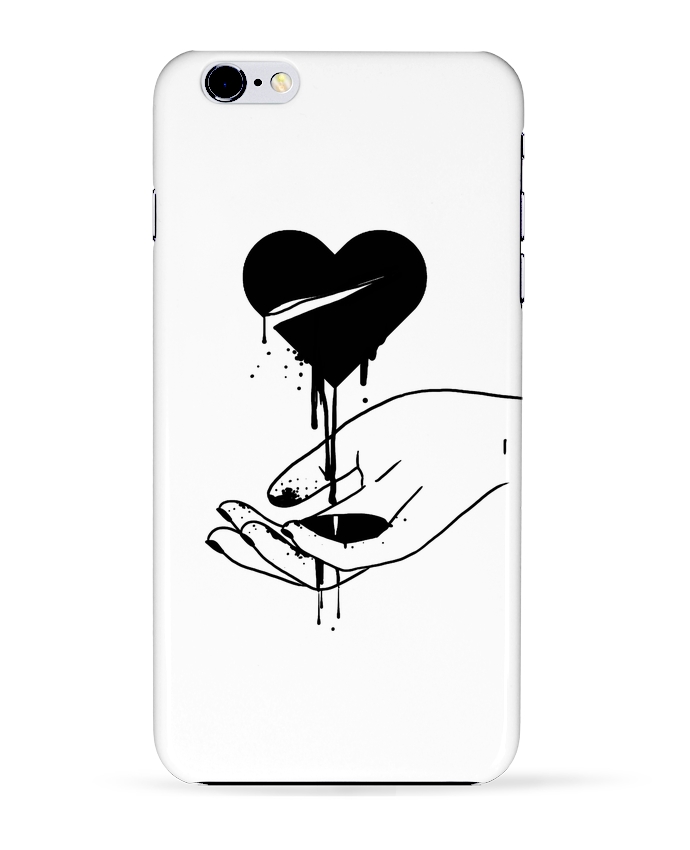 Case 3D iPhone 6+ COeur qui coule de tattooanshort