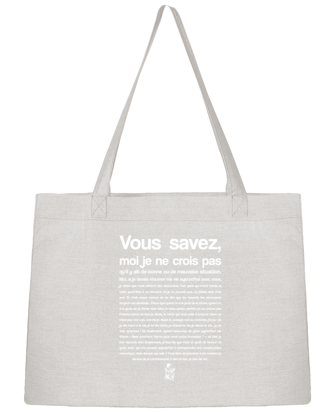 Shopping tote bag Stanley Stella Citation Scribe Astérix by tunetoo