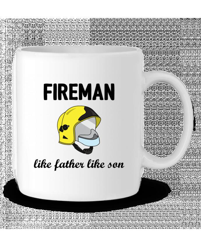 Ceramic Mug Fireman Like father like son by tunetoo