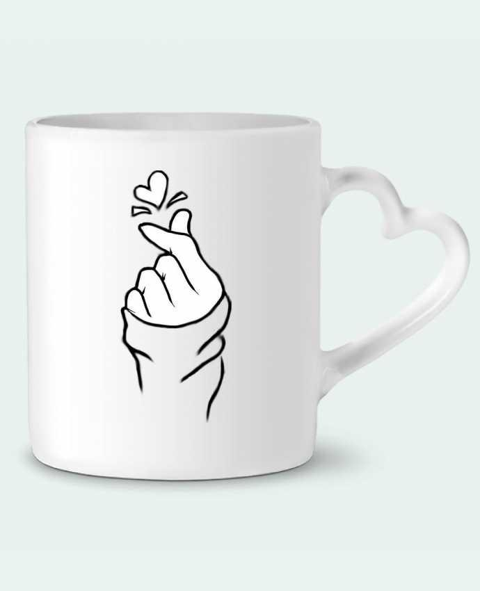Mug Heart love by DesignMe