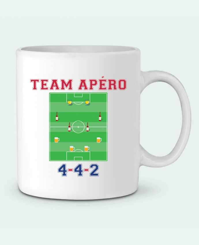 Ceramic Mug Team apéro football by tunetoo