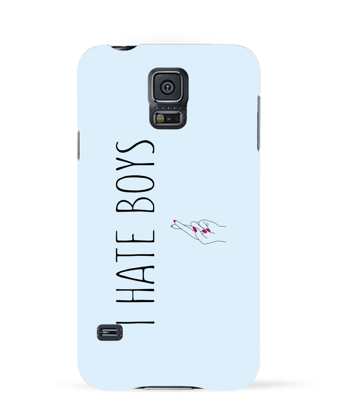 Case 3D Samsung Galaxy S5 I hate boys by tunetoo