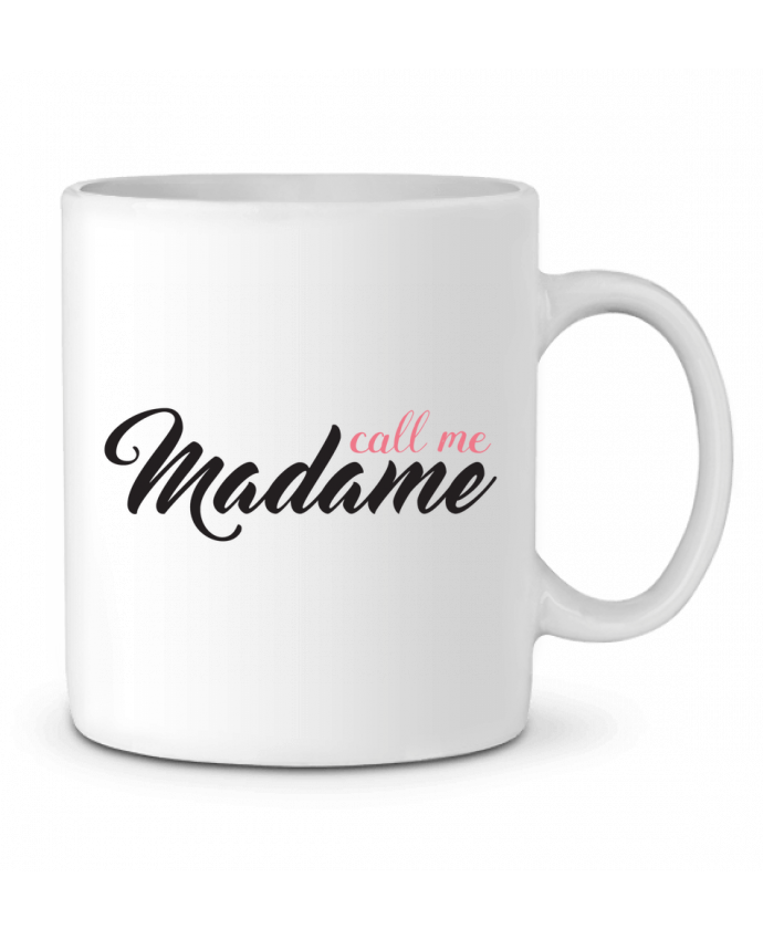 Ceramic Mug Call me Madame by tunetoo