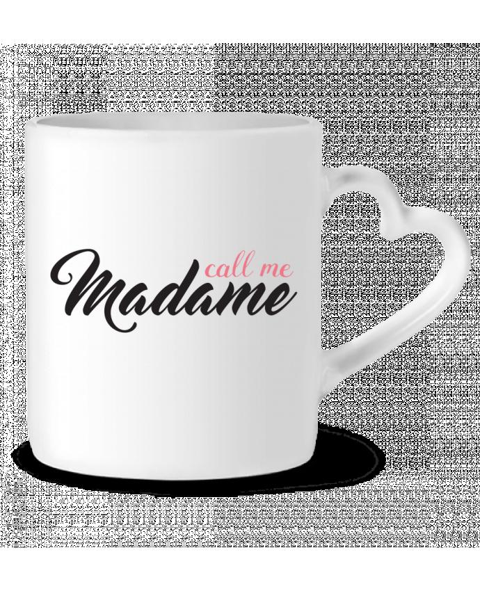 Mug Heart Call me Madame by tunetoo