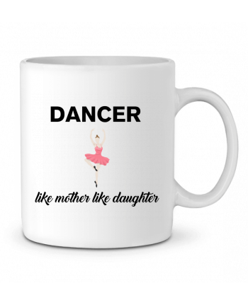 Ceramic Mug Dancer like mother like daughter by tunetoo