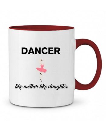 Two-tone Ceramic Mug Dancer like mother like daughter tunetoo