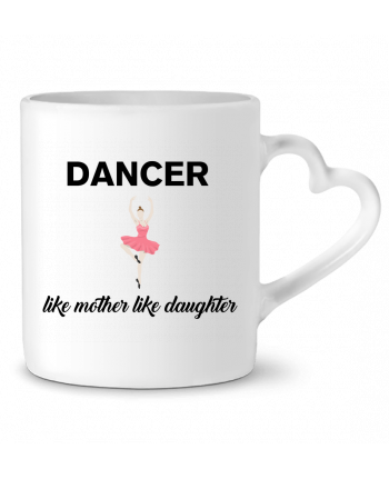 Mug Heart Dancer like mother like daughter by tunetoo
