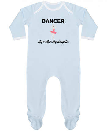 Baby Sleeper long sleeves Contrast Dancer like mother like daughter by tunetoo