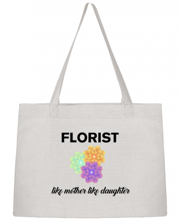 Shopping tote bag Stanley Stella Florist like mother like daughter by tunetoo
