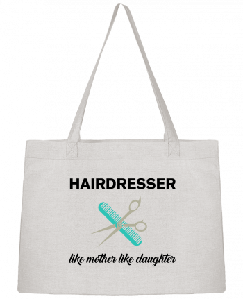 Shopping tote bag Stanley Stella Hairdresser like mother like daughter by tunetoo