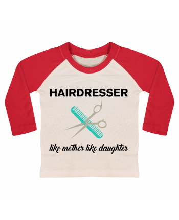 T-shirt baby Baseball long sleeve Hairdresser like mother like daughter by tunetoo